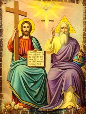 Resultado de imagen de cristo dios junto al padre