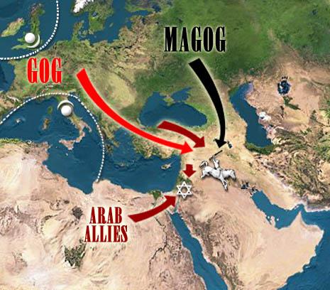 Gran guerra en la Biblia Rusia  y los Arabes contra Israel
