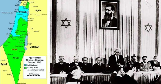 Resultado de imagen de proclamacion estado de israel